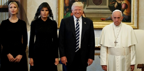 trumps with pope