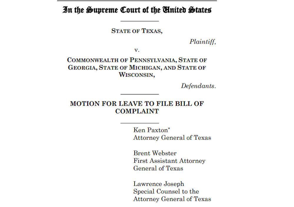 Texas lawsuit